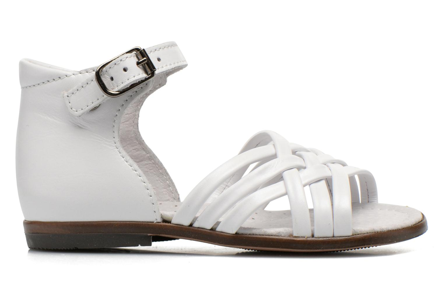 Sandals Little Mary Virginia White back view