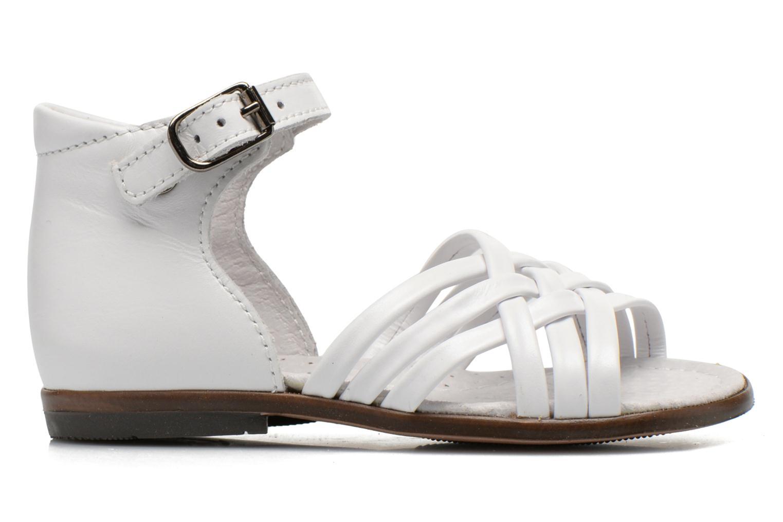 Sandales et nu-pieds Little Mary Virginia Blanc vue derrière