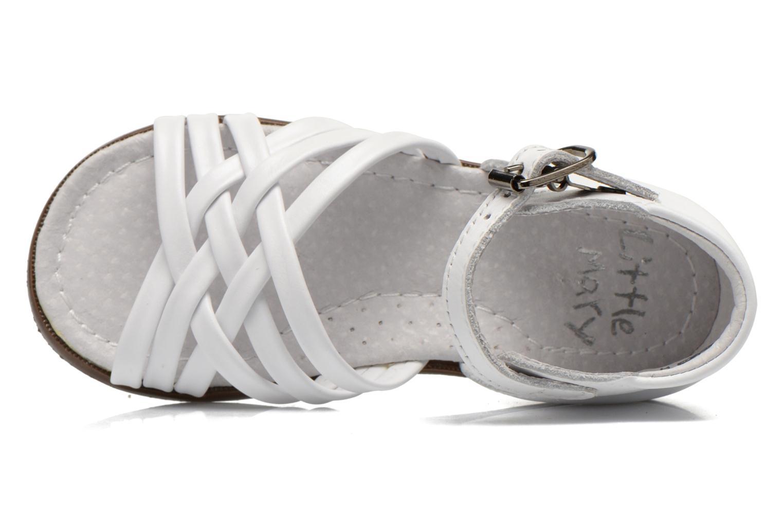 Sandales et nu-pieds Little Mary Virginia Blanc vue gauche