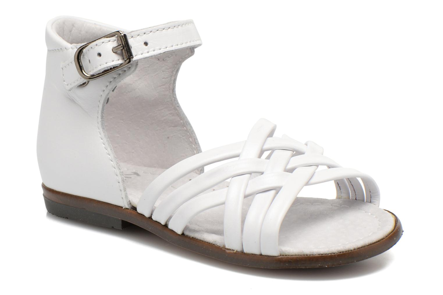 Sandals Little Mary Virginia White detailed view/ Pair view