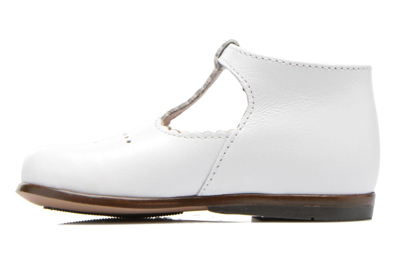 Summer boots Little Mary Floriane White front view