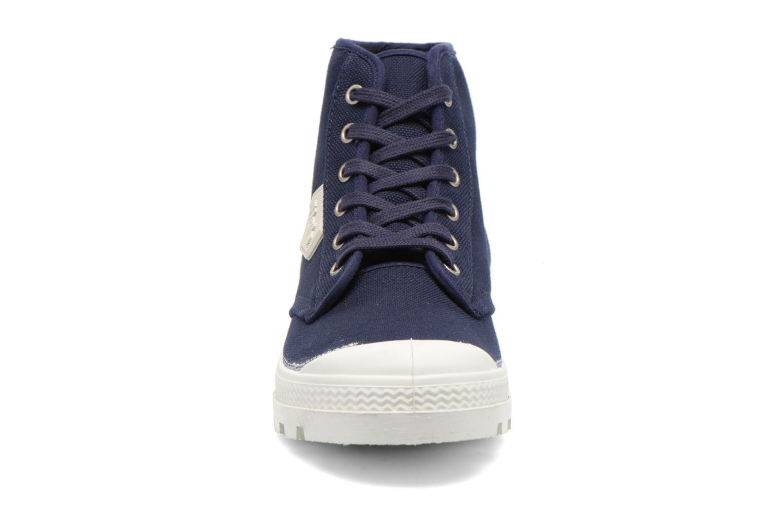 Chaussures à lacets Aigle Rubber Saint Germain W Bleu vue portées chaussures