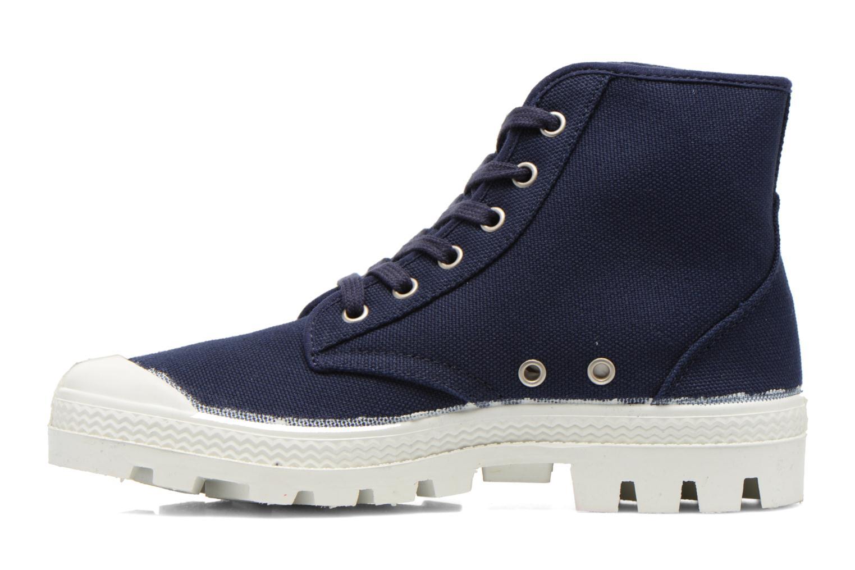 Zapatos con cordones Aigle Rubber Saint Germain W Azul vista de frente