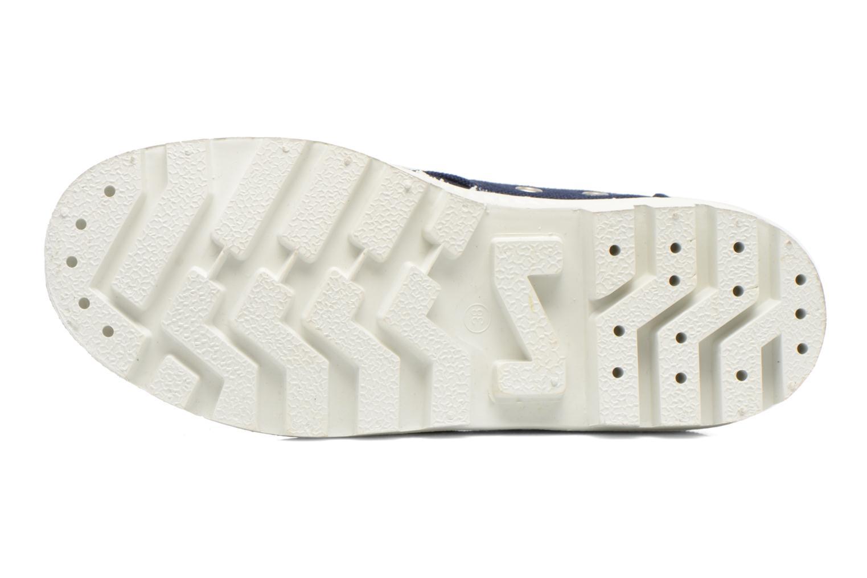 Chaussures à lacets Aigle Rubber Saint Germain W Bleu vue haut