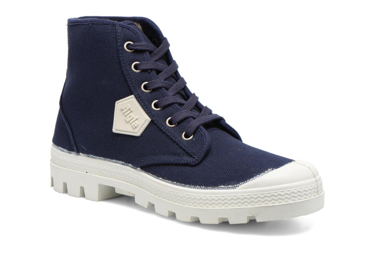 Chaussures à lacets Aigle Rubber Saint Germain W Bleu vue détail/paire
