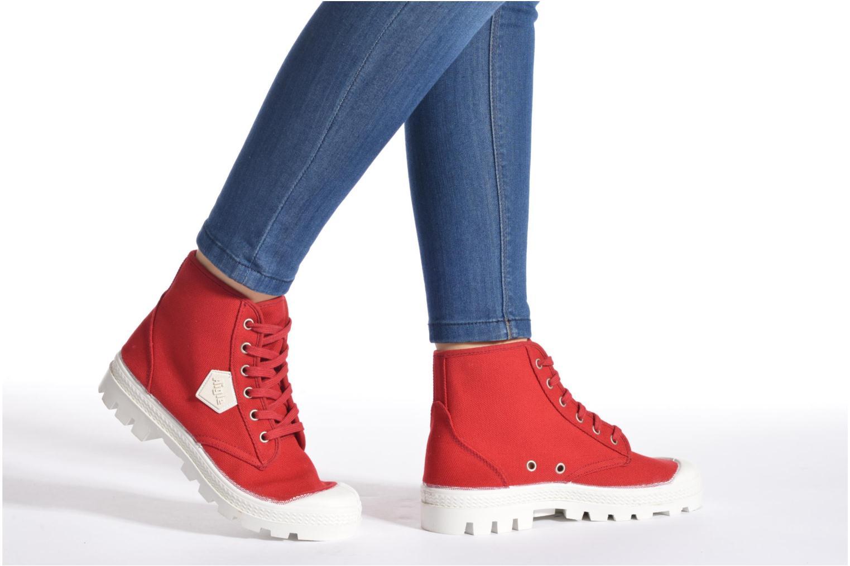 Chaussures à lacets Aigle Rubber Saint Germain W Rouge vue bas / vue portée sac