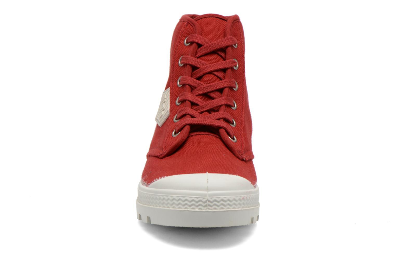 Chaussures à lacets Aigle Rubber Saint Germain W Rouge vue portées chaussures