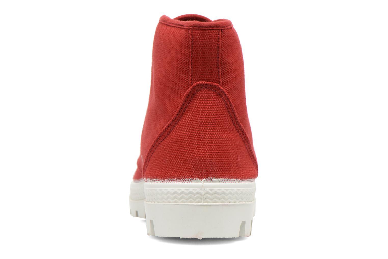 Chaussures à lacets Aigle Rubber Saint Germain W Rouge vue droite