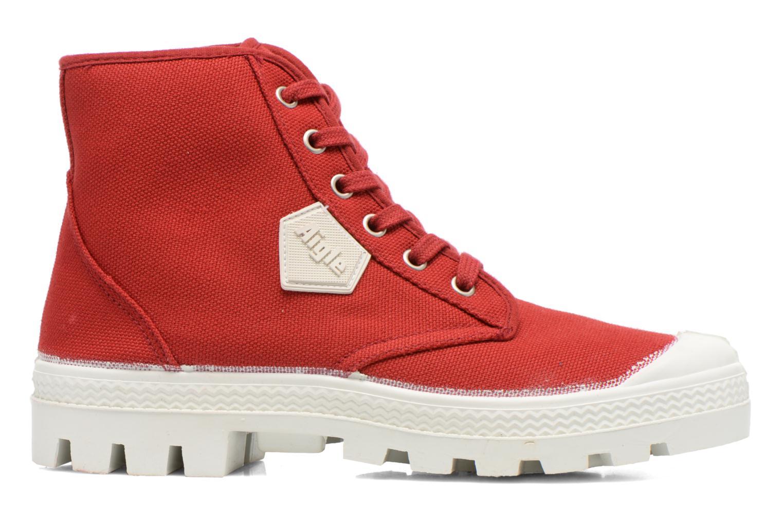 Chaussures à lacets Aigle Rubber Saint Germain W Rouge vue derrière