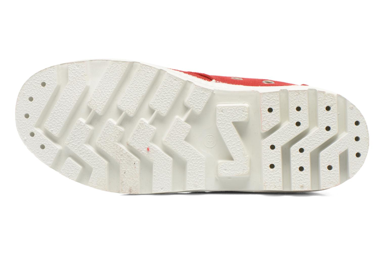 Chaussures à lacets Aigle Rubber Saint Germain W Rouge vue haut