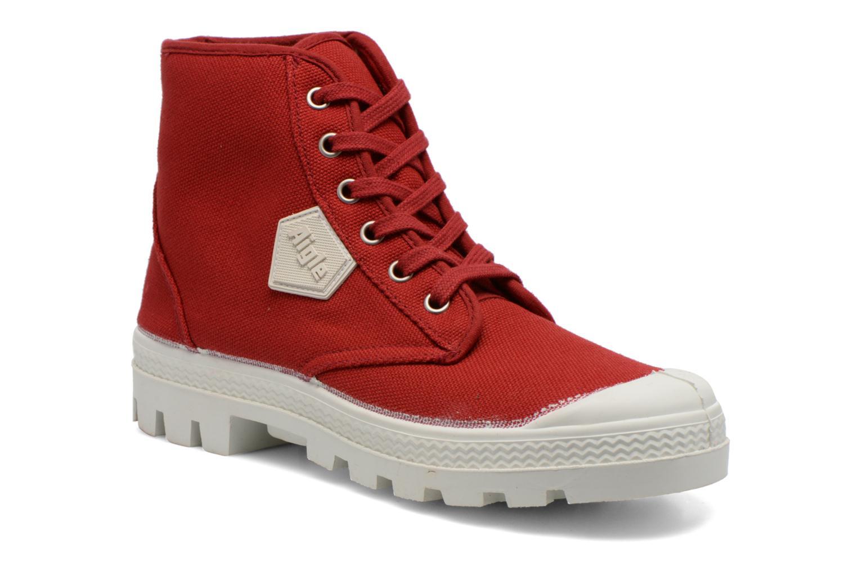 Snøresko Aigle Rubber Saint Germain W Rød detaljeret billede af skoene