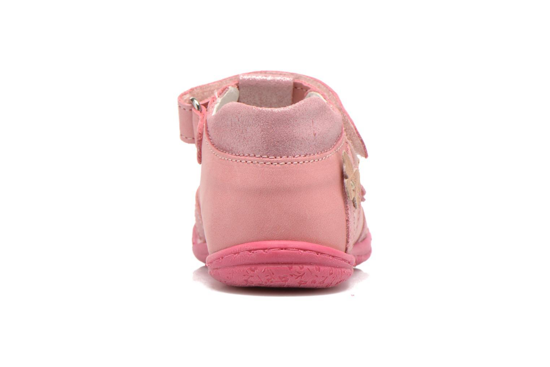 Zapatos con velcro Primigi Giusy-E Rosa vista lateral derecha