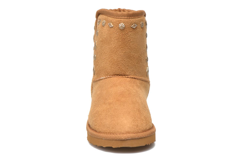 Bottes Pepe jeans Angel Studs Kids Marron vue portées chaussures