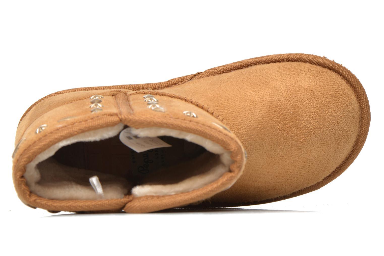 Bottes Pepe jeans Angel Studs Kids Marron vue gauche