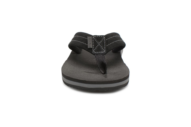 Flip flops Quiksilver Carver Suede Black model view