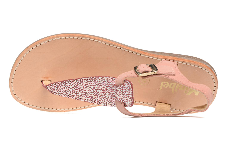 Sandals Minibel Klarice Pink view from the left