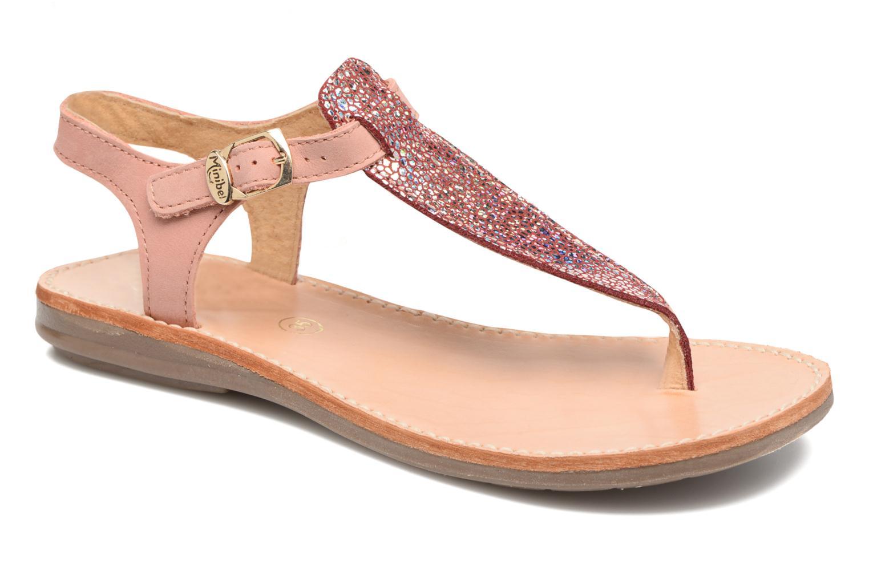 Sandals Minibel Klarice Pink detailed view/ Pair view