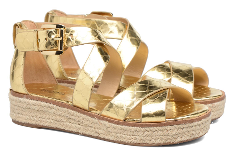 Sandales et nu-pieds Michael Michael Kors Darby Sandal Or et bronze vue 3/4