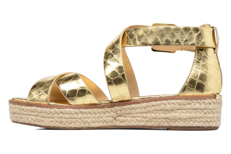 Sandales et nu-pieds Michael Michael Kors Darby Sandal Or et bronze vue face