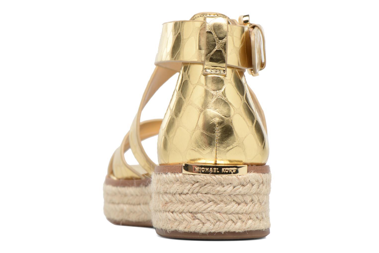 Sandales et nu-pieds Michael Michael Kors Darby Sandal Or et bronze vue droite