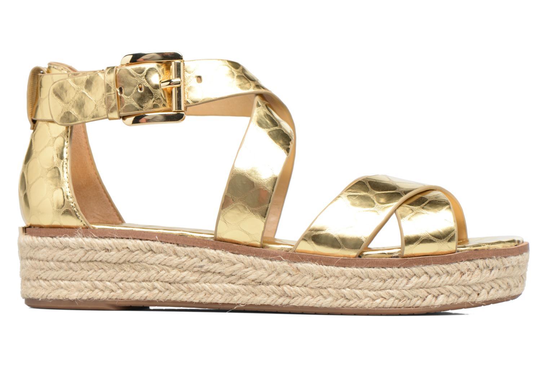 Sandales et nu-pieds Michael Michael Kors Darby Sandal Or et bronze vue derrière