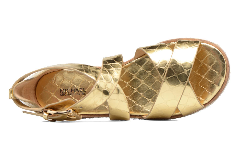 Sandales et nu-pieds Michael Michael Kors Darby Sandal Or et bronze vue gauche