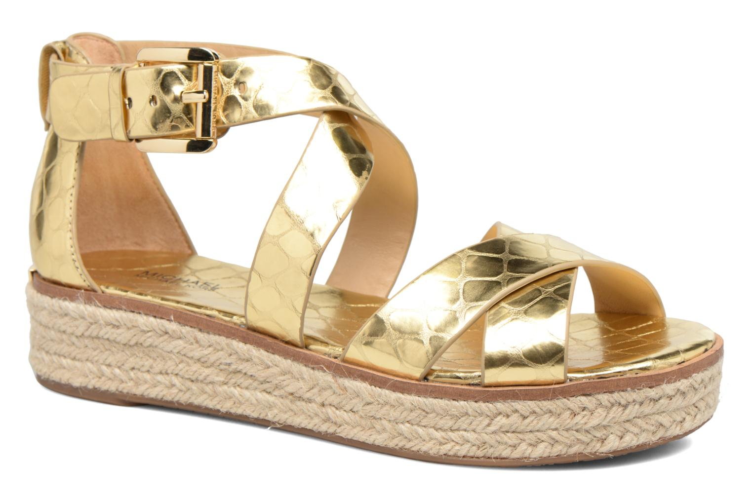 Sandals Michael Michael Kors Darby Sandal Bronze and Gold detailed view/ Pair view