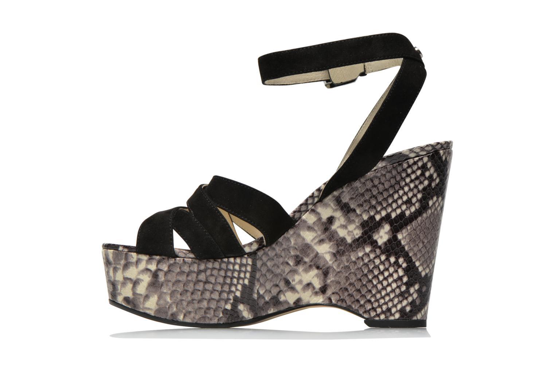 Sandals Michael Michael Kors Megan wedge Black front view