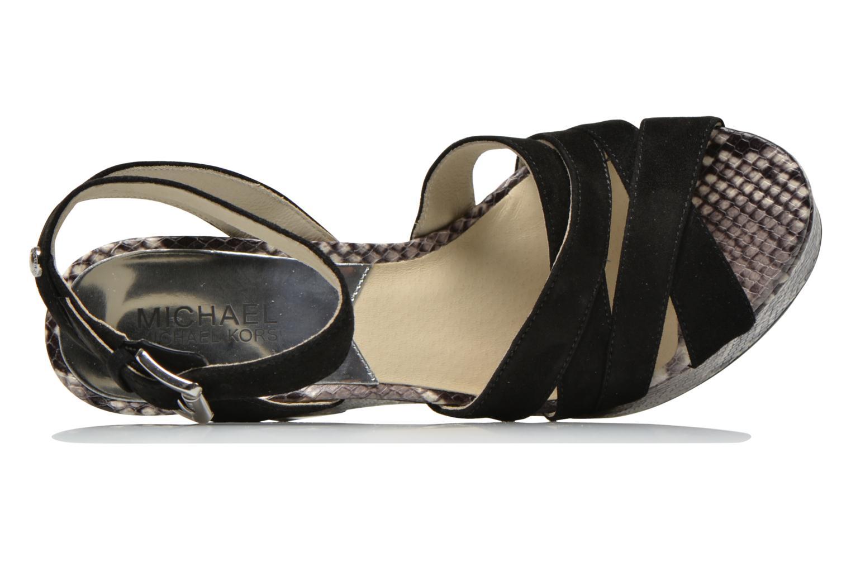 Sandales et nu-pieds Michael Michael Kors Megan wedge Noir vue gauche