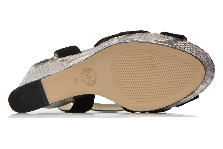 Sandales et nu-pieds Michael Michael Kors Megan wedge Noir vue haut