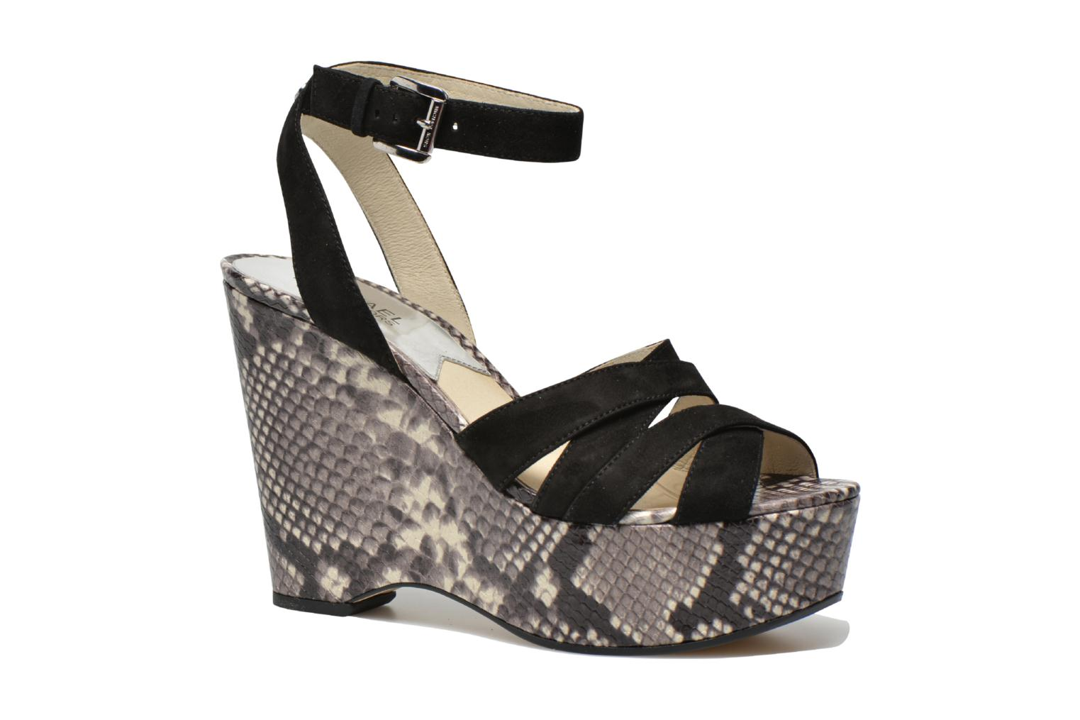 Sandals Michael Michael Kors Megan wedge Black detailed view/ Pair view