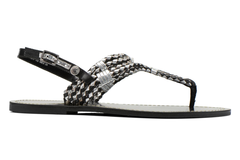 Sandalias Pepe jeans Jane Woven Metallic Negro vistra trasera