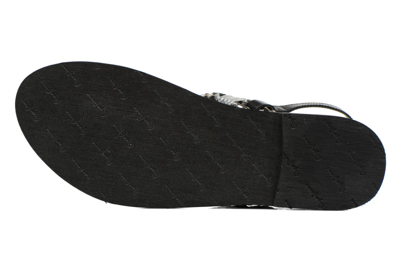 Sandals Pepe jeans Jane Woven Metallic Black view from above