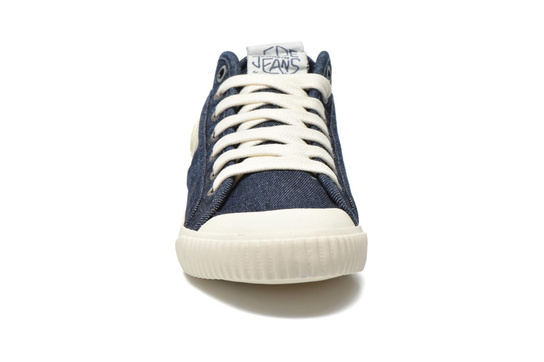 Baskets Pepe jeans Industry Denim Bleu vue portées chaussures