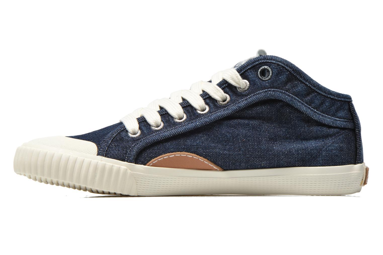 Baskets Pepe jeans Industry Denim Bleu vue face
