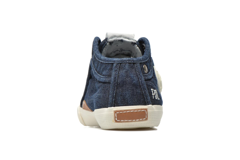 Deportivas Pepe jeans Industry Denim Azul vista lateral derecha