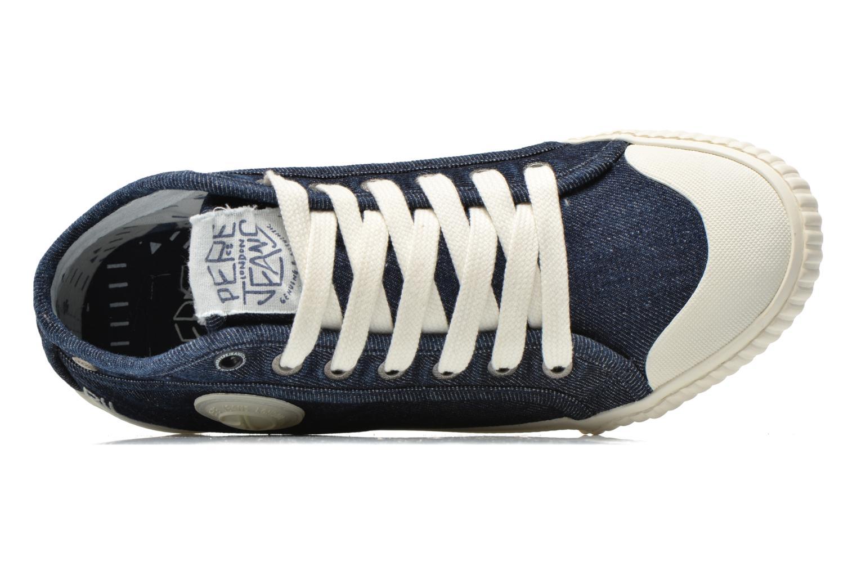 Deportivas Pepe jeans Industry Denim Azul vista lateral izquierda