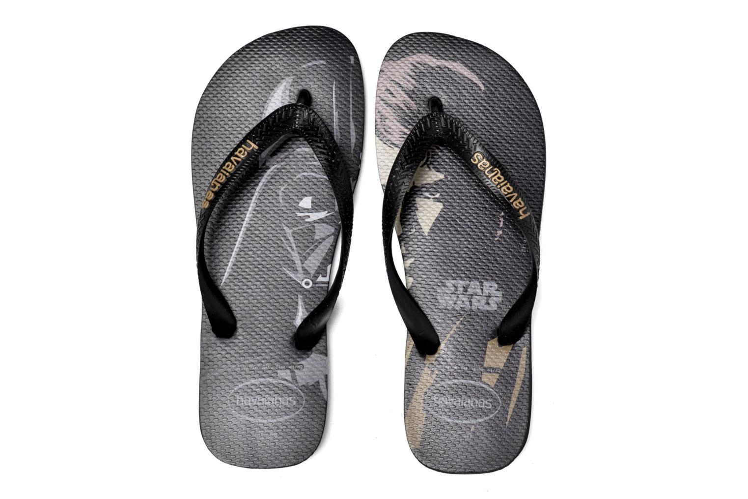 Flip flops Havaianas Star Wars Black 3/4 view