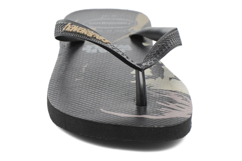 Tongs Havaianas Star Wars Noir vue portées chaussures