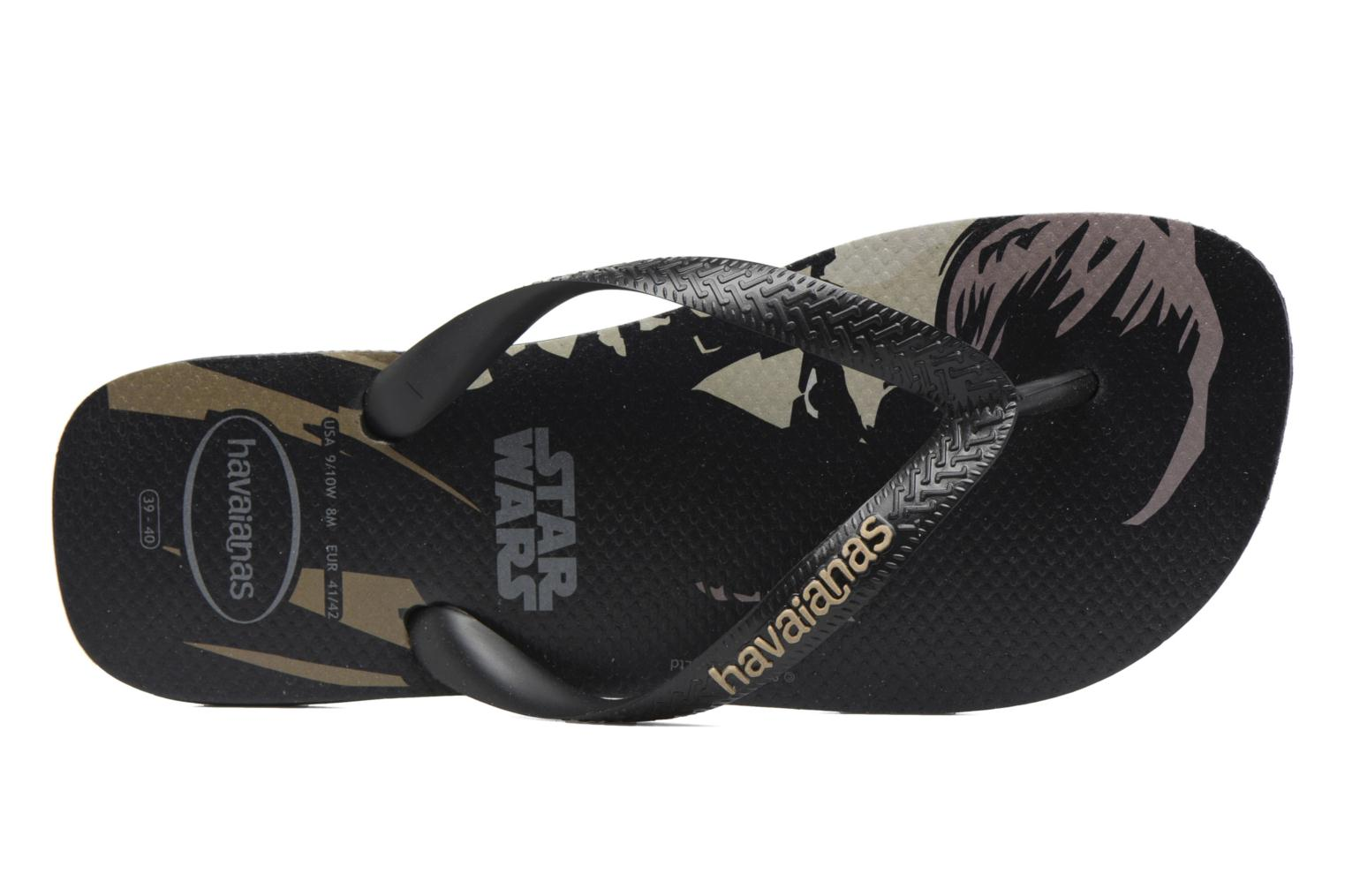Flip flops Havaianas Star Wars Black view from the left