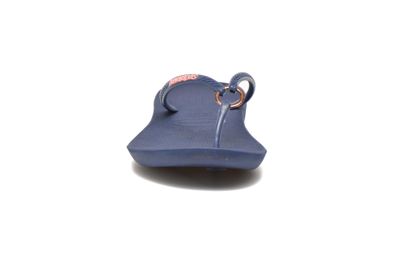 Tongs Havaianas Ring Bleu vue portées chaussures