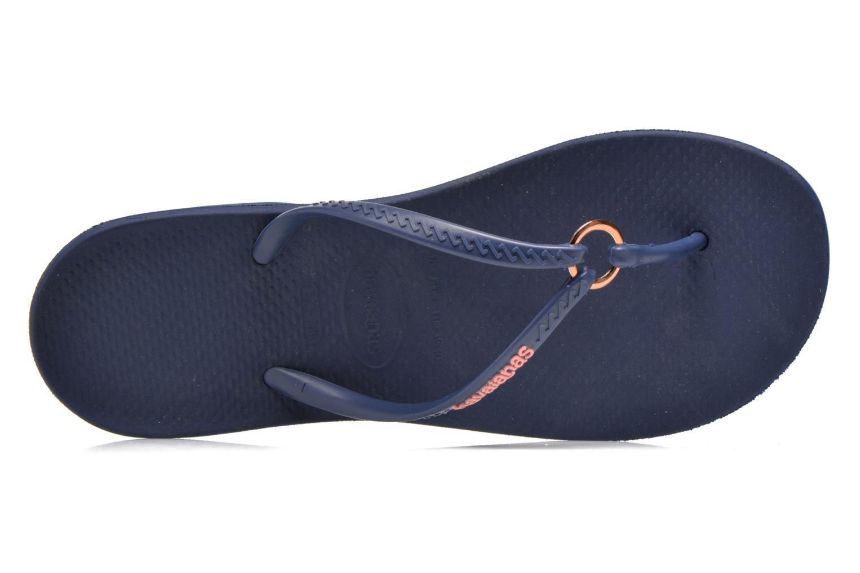 Slippers Havaianas Ring Blauw links