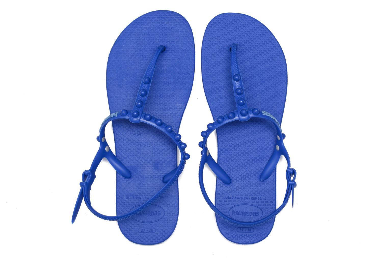 Sandales et nu-pieds Havaianas Freedom Candy Bleu vue 3/4
