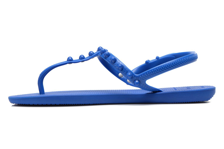 Sandales et nu-pieds Havaianas Freedom Candy Bleu vue face