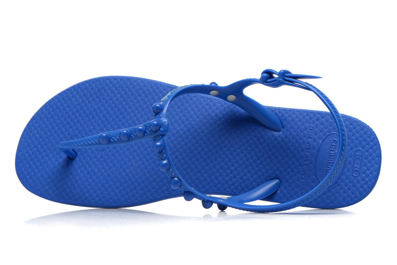 Sandales et nu-pieds Havaianas Freedom Candy Bleu vue gauche