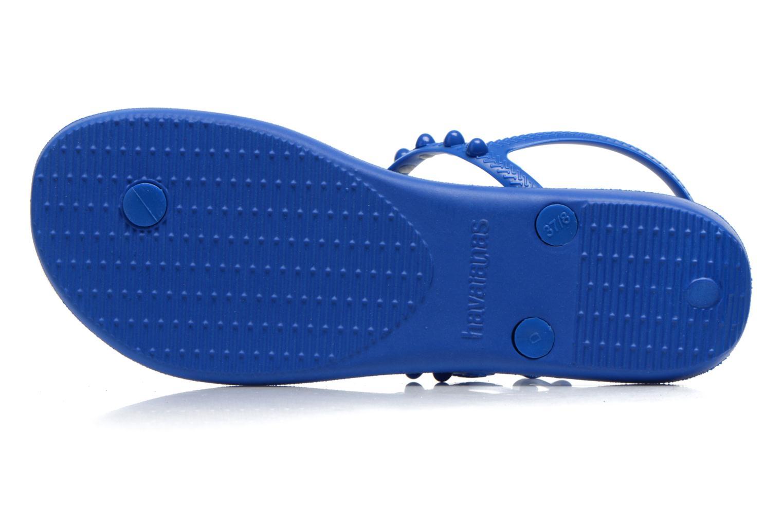 Sandales et nu-pieds Havaianas Freedom Candy Bleu vue haut