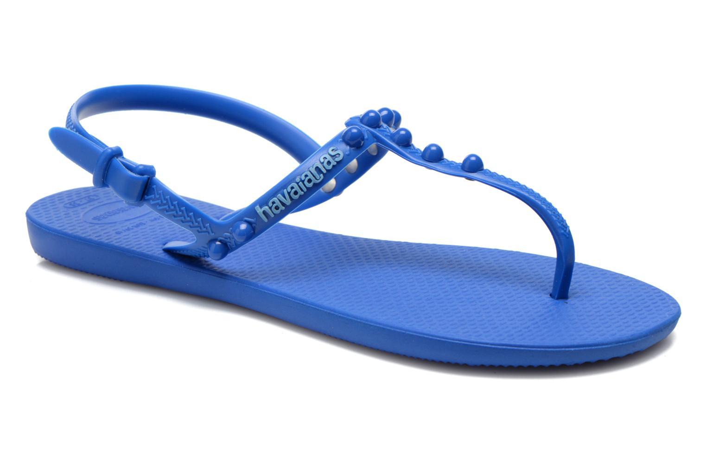 Sandales et nu-pieds Havaianas Freedom Candy Bleu vue détail/paire