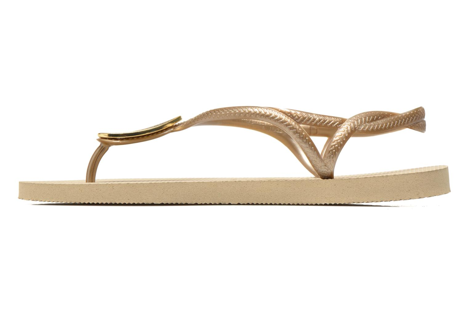 Flip flops Havaianas Luna Especial Bronze and Gold front view