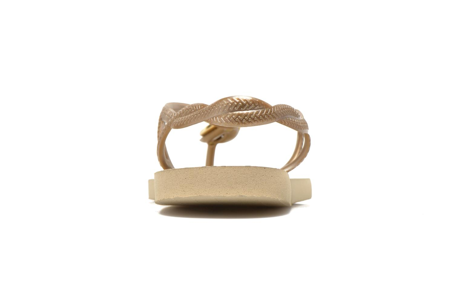 Flip flops Havaianas Luna Especial Bronze and Gold view from the right