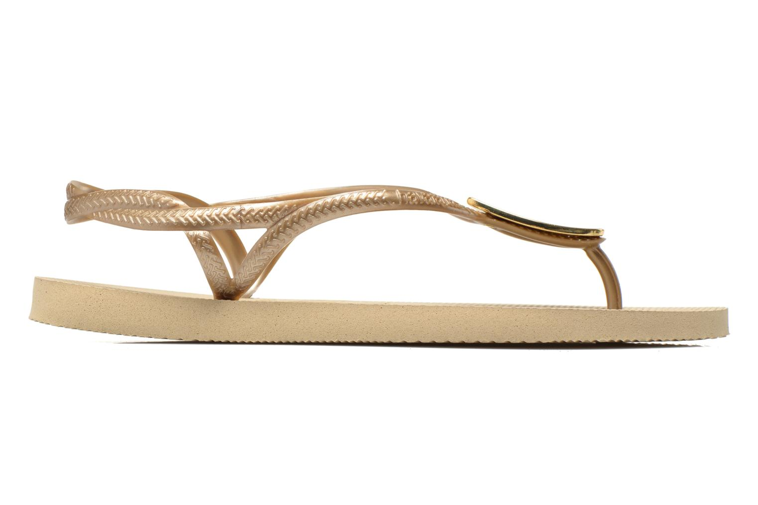 Flip flops Havaianas Luna Especial Bronze and Gold back view